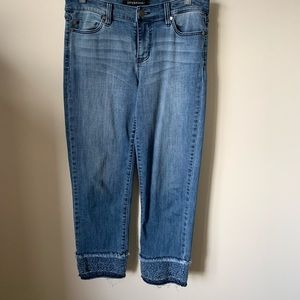 Liverpool Sadie Crop Jeans w/ Eyelet Cuff  4